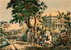 CIRCA 1855 N. CURRIER LITHOGRAPH AFTER F.F. PALMER