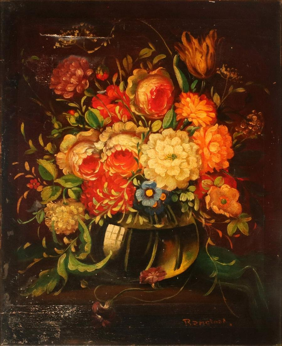 AN EARLY 20TH C DUTCH SCHOOL FLORAL STILL LIFE