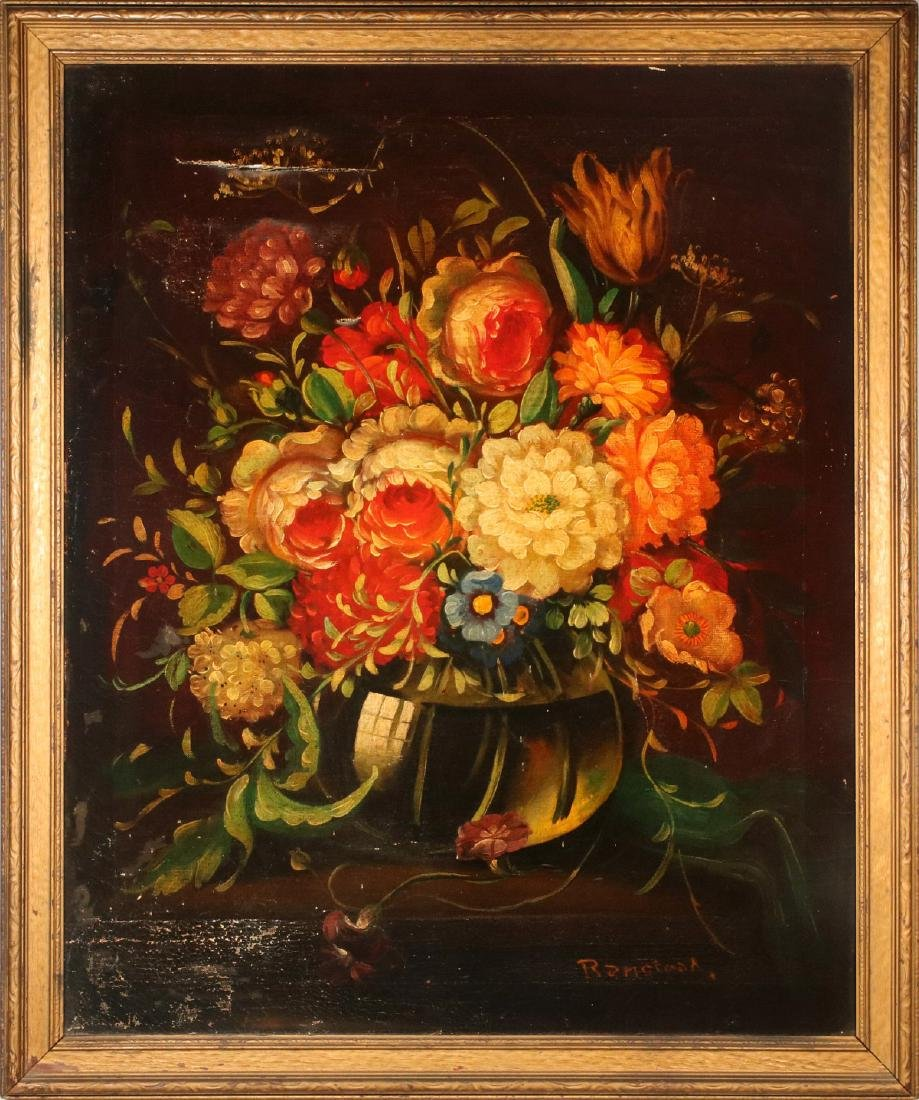 AN EARLY 20TH C DUTCH SCHOOL FLORAL STILL LIFE - 2