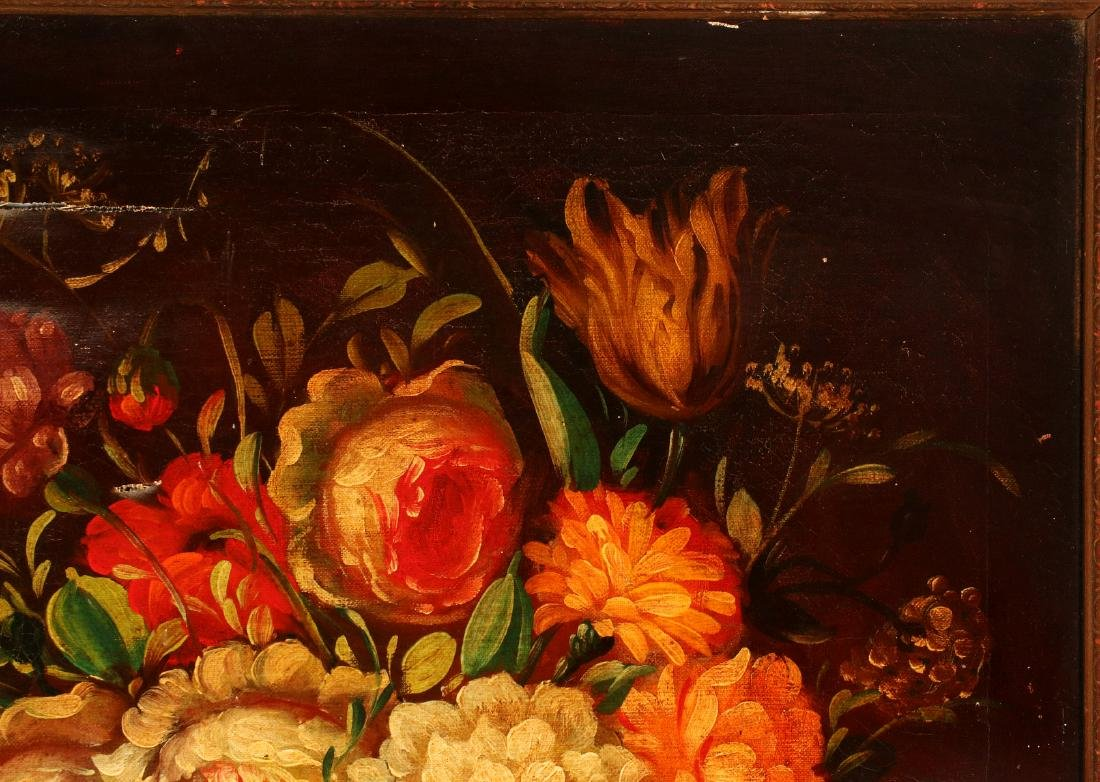 AN EARLY 20TH C DUTCH SCHOOL FLORAL STILL LIFE - 4