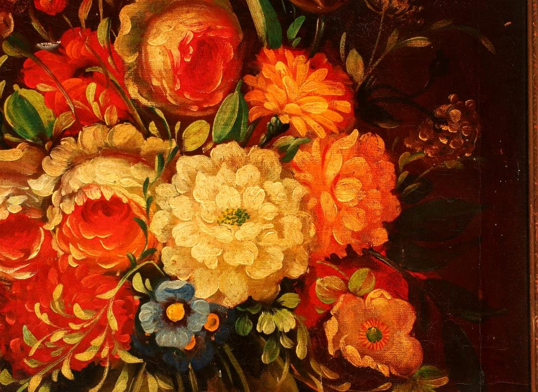 AN EARLY 20TH C DUTCH SCHOOL FLORAL STILL LIFE - 5
