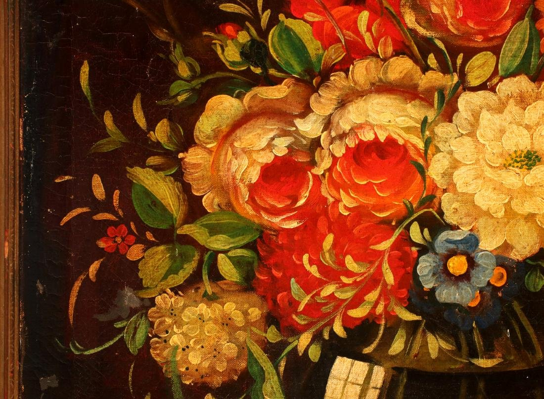 AN EARLY 20TH C DUTCH SCHOOL FLORAL STILL LIFE - 8
