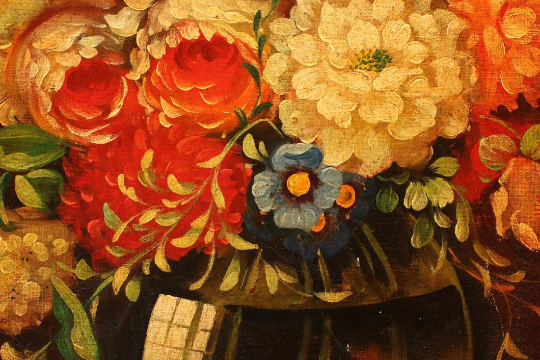 AN EARLY 20TH C DUTCH SCHOOL FLORAL STILL LIFE - 9
