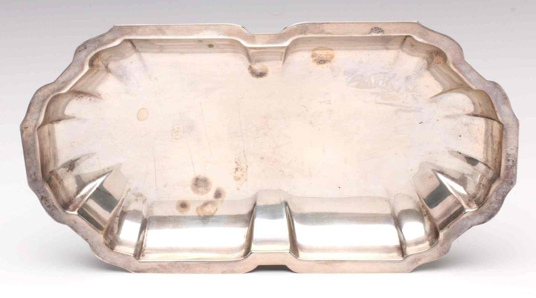 AN ESTATE LOT OF STERLING SILVER TRAYS - 7