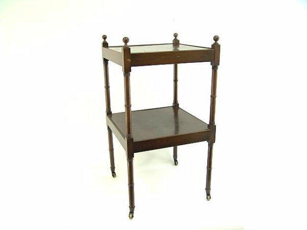 3233: PERIOD SHERATON MAHOGANY TIER TABLE