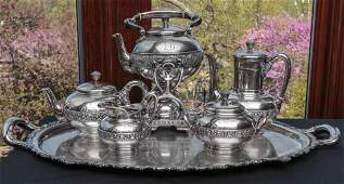 A TIFFANY  CO STERLING SILVER TEA AND COFFEE SET