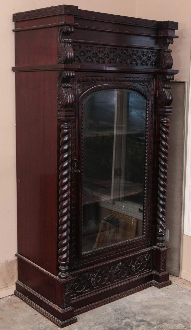 The Best A Victorian Carved Mahogany Mirror Fronted Single Door Wardrobe Utmost In Convenience Armoires & Wardrobes