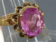 69 14K LADIES ESTATE RING SET W A VIOLET PINK SAPPHIR