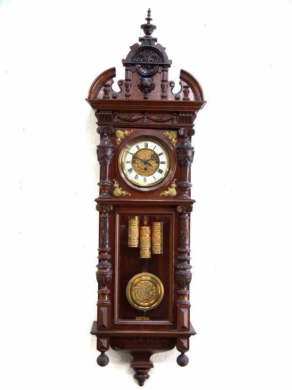 71: GUSTAV BECKER THREE WEIGHT REGULATOR CLOCK