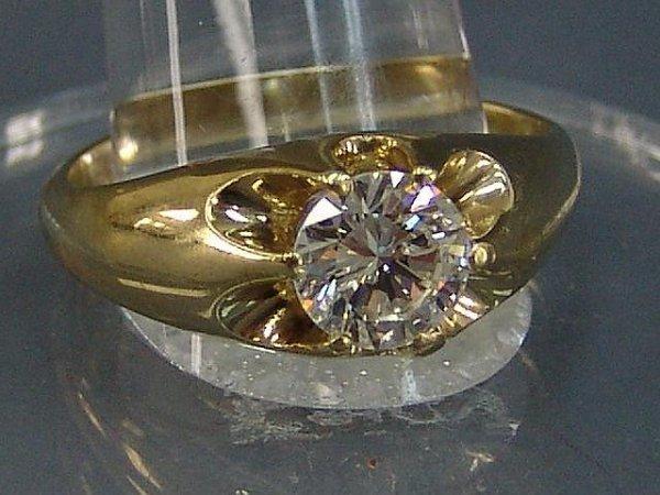 78: MAN'S 1.6 CARAT DIAMOND ESTATE RING IN 14 KARAT