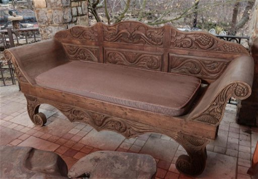 Sensational An Ornate Asian Teak Wood Bench Carved Overall Caraccident5 Cool Chair Designs And Ideas Caraccident5Info