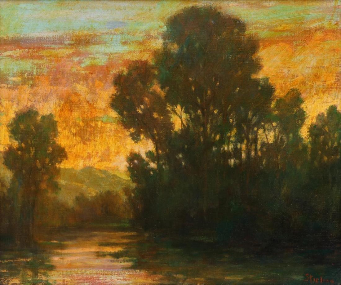 DAVID STIRLING (1887-1971) OIL ON CANVAS
