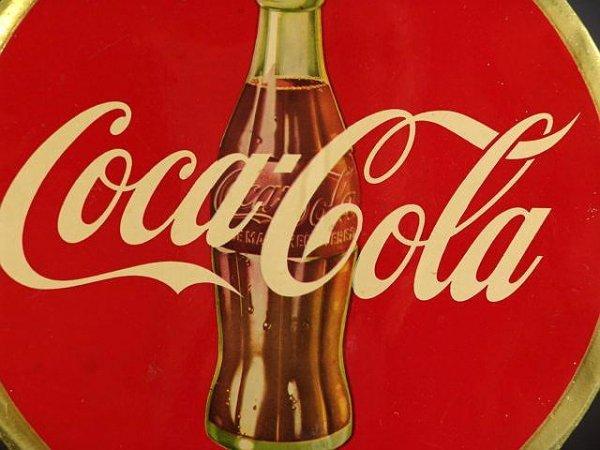 503: COCA-COLA DISC BUTTON SIGN