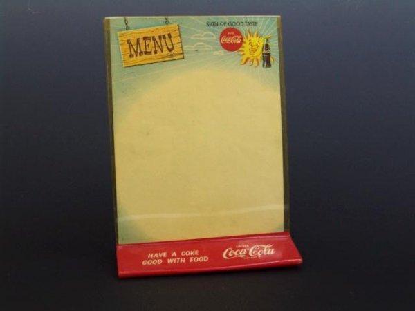 506: 1950'S-60'S COCA-COLA PLASTIC MENU