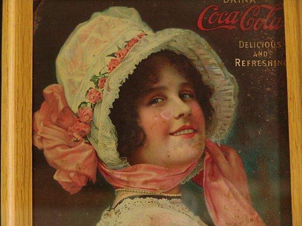 508: FRAMED 1913 COCA-COLA TRAY FRAGMENT