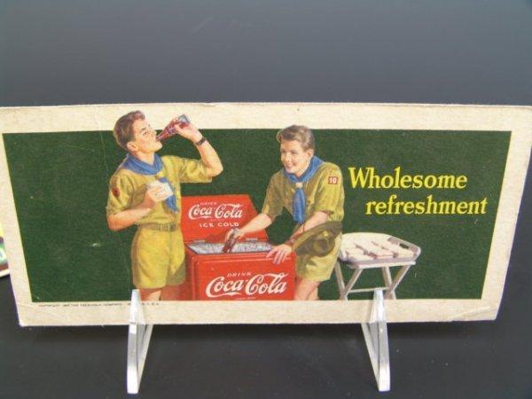 514: FIVE COCA-COLA BLOTTERS 1938-60