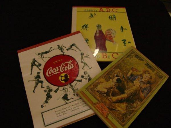 515: 3 COCA-COLA NOTEBOOKS - PADS