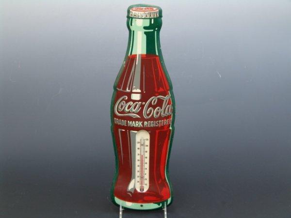 519: COCA-COLA BOTTLE FIGURAL THERMOMETER
