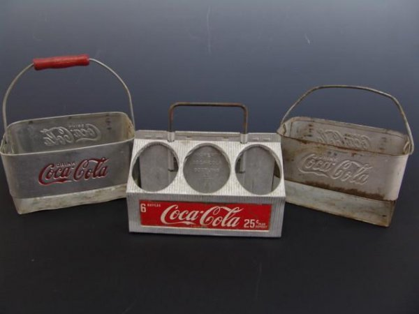 522: 3 -1950'S ALUMINUM COKE CARRIERS