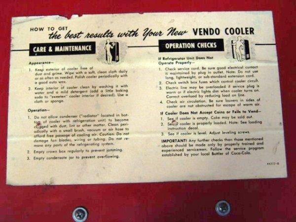 632: VENDO V23 SPIN TOP COCA-COLA MACHINE - 7