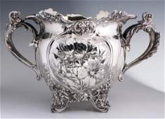 A LARGE 1893 SPECIAL ORDER GORHAM STERLING JARDINIERE