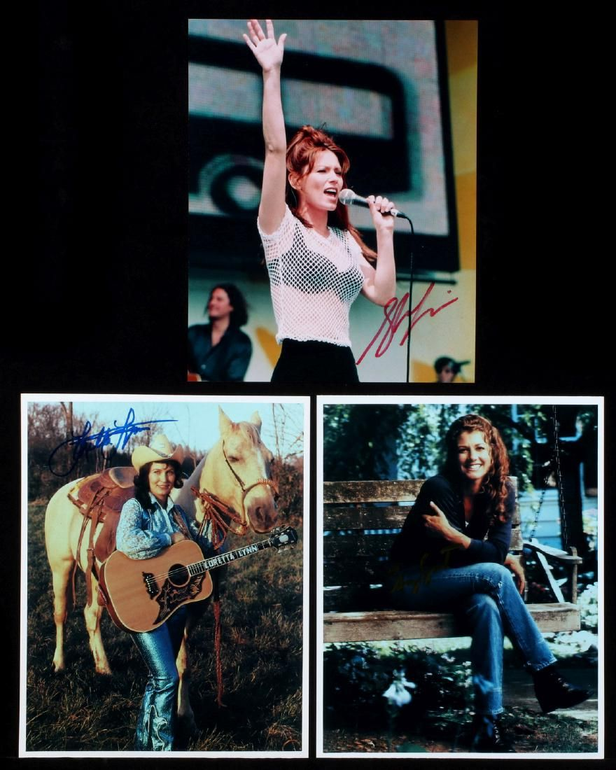 COUNTRY MUSIC PERFORMER SIGNED 8 X 10 PHOTOGRAPHS
