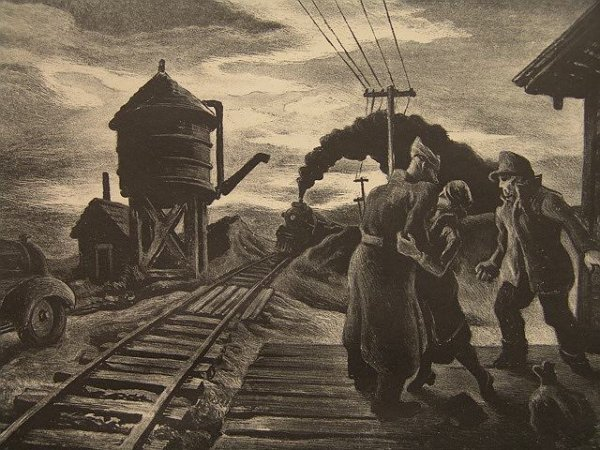 2280A: SIGNED LITHOGRAPH BY THOMAS HART BENTON (1889-19