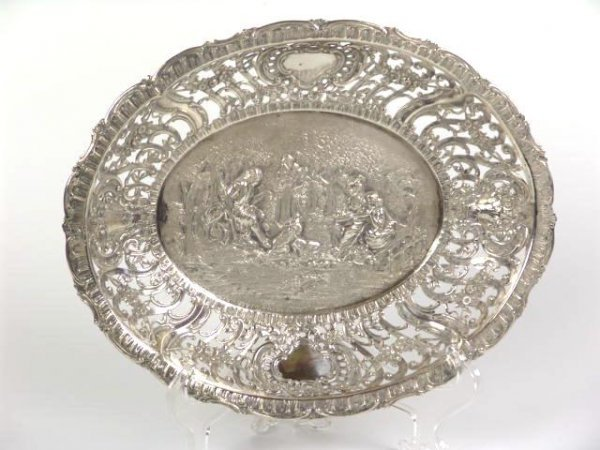 """2505: OPENWORK SILVER BOWL MARKED """"GERMANY"""""""