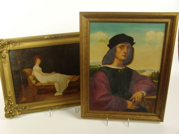 2508: TWO WORKS ON CANVAS, COPIES AFTER FAMOUS PAINTING