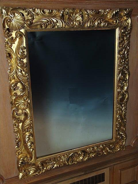 2685: FABULOUS 19th C. ITALIAN CARVED AND GILDED MIRROR