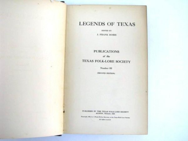 514: Second Edition Book: Legends of Texas.