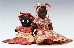 BLACK AMERICANA AND ETHNIC VINTAGE CLOTH DOLLS