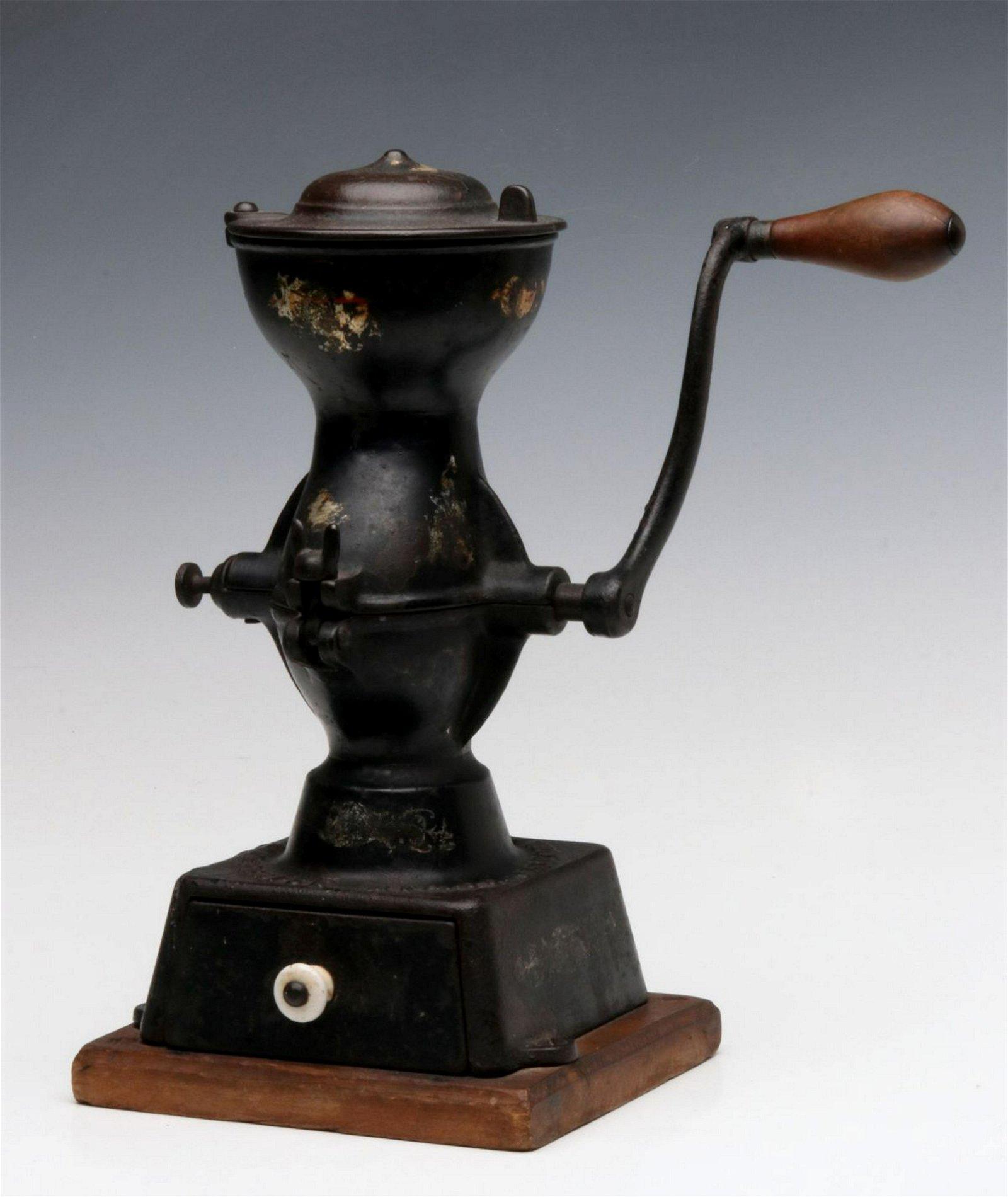 AN ENTERPRISE NO. 1 CAST IRON COFFEE MILL CIRCA 1875