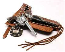 VERY HIGH CALIBER ROY ROGERS TOY GUN AND HOLSTER SET