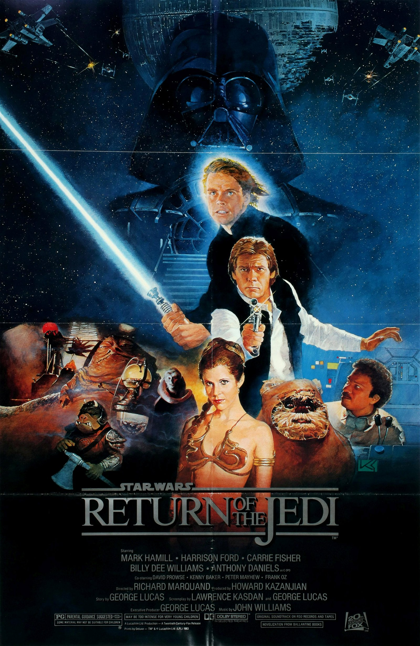 AN ORIGINAL 1983 'RETURN OF THE JEDI' MOVIE POSTER