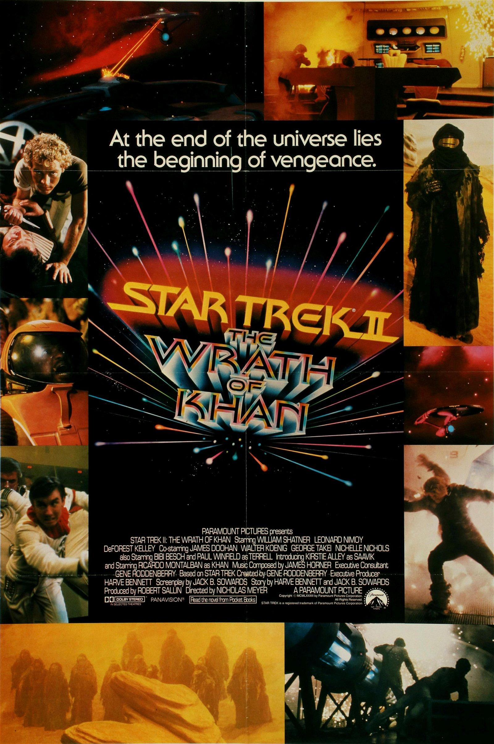 AN ORIGINAL 1982 'STAR TREK WRATH OF KHAN' MOVIE POSTER