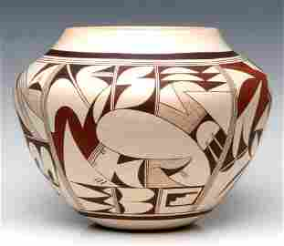 AN EXCEPTIONALLY LARGE HOPI OLLA SIGNED FROG WOMAN
