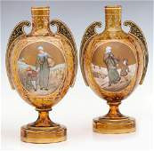 A PAIR OF LATE 19TH CENTURY BOHEMIAN ART GLASS VASES
