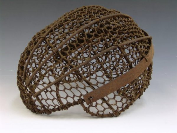 22: GREAT ANTIQUE WIRE TIED IRON FENCING MASK