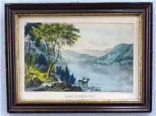 78: ORIG. CURRIER & IVES - LAKE GEORGE N.Y.