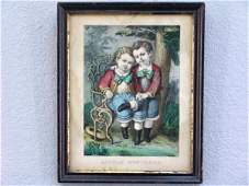 229 2 ORIG CURRIER  IVES LITTLE BROTHERS  MAMAS D