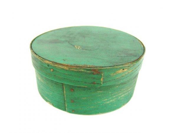 677: OLD SMALL GREEN PANTRY BOX