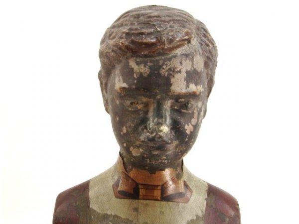 824: GREAT VICTORIAN BOY MANNEQUIEN IN IRON SHOES