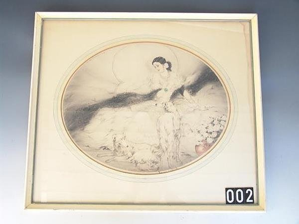 2: ORIGINAL PENCIL SIGNED ETCHING BY LOUIS ICART (Frenc