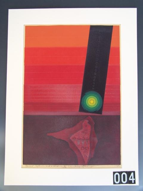 4: COLOR LITHOGRAPH BY KUNIHIRO AMAND (1929-    )