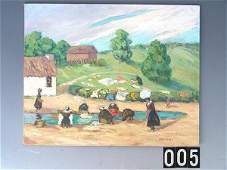 5: OIL ON BOARD BY OKLAHOMA ARTIST NAN SHEETS (1889-197