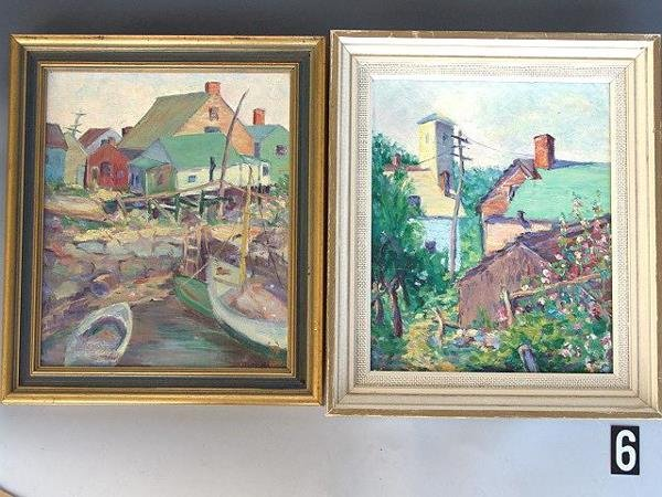 6: TWO 1920's OIL PAINTINGS OF ROCKPORT MASS