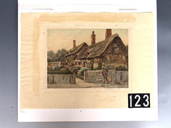 123: PENCIL SIGNED COLOR ETCHING BY M.C. ROBINSON - 2