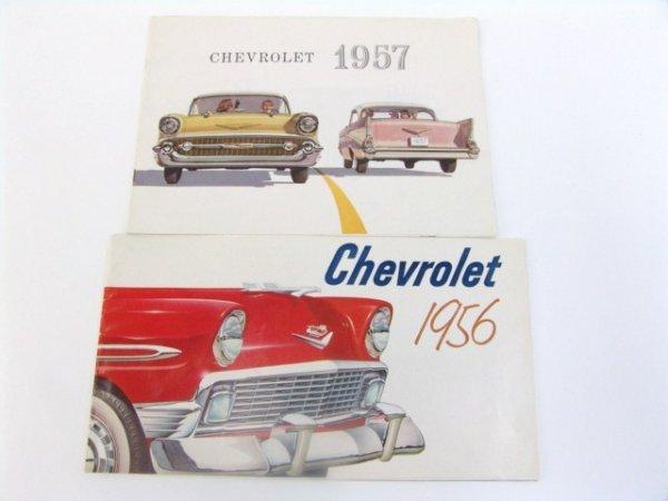 1001: VINTAGE 1956 & 1957 CHEVROLET CHEVY CATALOGS
