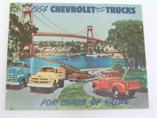1002: VINTAGE 1954 CHEVROLET TRUCK CATALOG BROCHURE